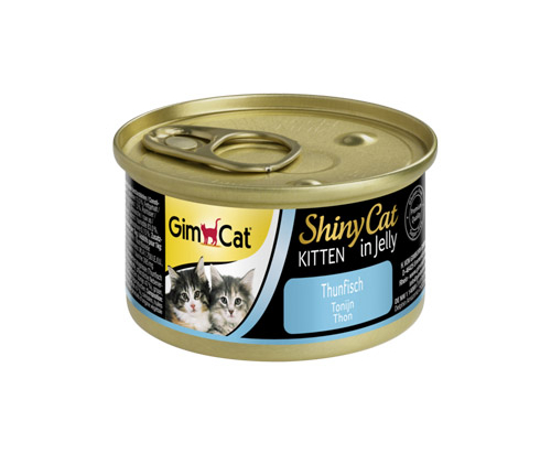 GimCat ShinyCat Kitten in Jelly Tuna 24x70g