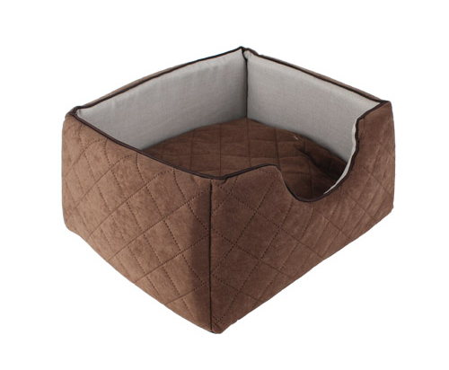 Square comfy bed 3 sizes - Brown/Gray
