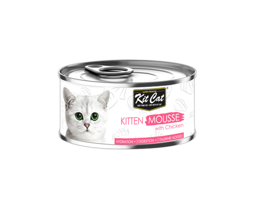 Kit Cat Kitten Mousse with Chicken 24x80g