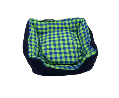 Green and blue cat bed