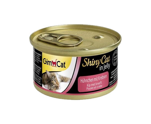 GimCat ShinyCat in Jelly Chicken with crab 24x70g