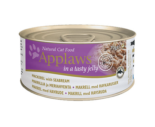 Applaws Mackerel with Seabream in Jelly Can 24x70g