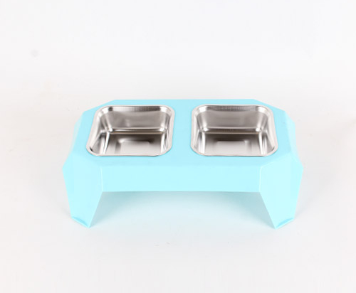 Double stainless steel bowls