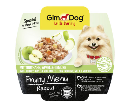 GimDog Ragout with turkey, apple and vegetables 8x100g