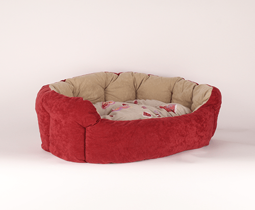 Round bed with hearts