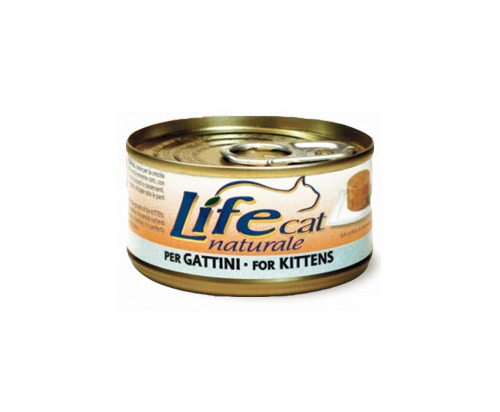 Life Cat Natural Wet Food Cans Chicken for Kittens 24x85g
