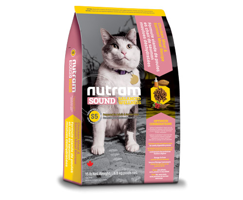 Nutram Sound Balanced Wellness® Adult and Senior CatDry Food Chicken and Salmon