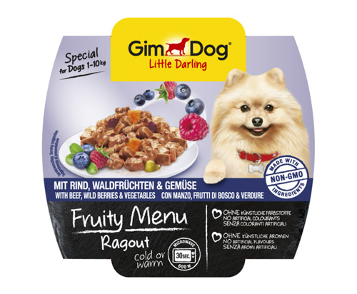 GimDog Ragout with beef, wild berries and vegetables Wet Food 8x100g