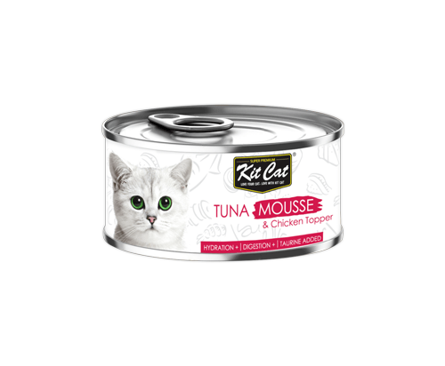 Kit Cat Tuna Mousse & Chicken Topper 24x80g