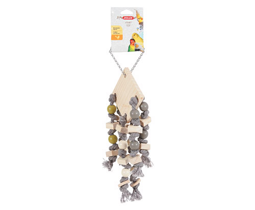 Zolux Wooden Hanging Toy with 6 Ropes