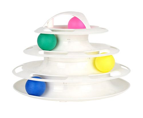 Tower toy 4 colorful balls