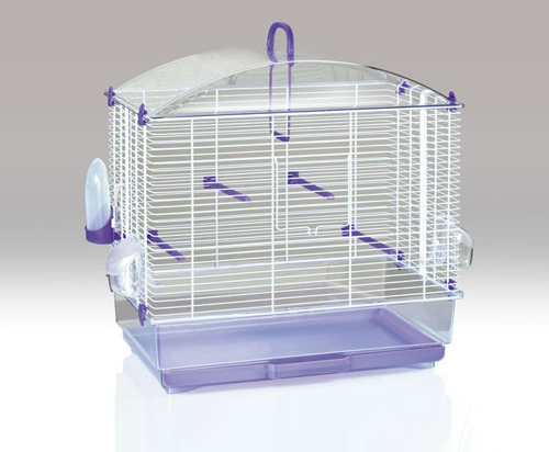 gabbia transparent birds cage medium purple