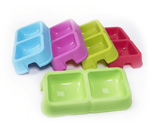 Double Plastic Bowl for Water and Food- Large