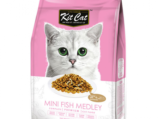 Kit Cat Mini Fish Medley (Optimal Bones Growth) Dry Cat Food