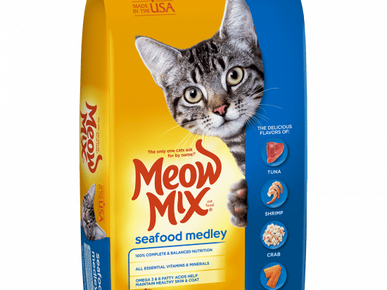 Meow Mix Seafood Medley Adult Cat Dry Food 6.44kg