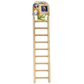 Penn Plax Wooden ladder Sized for parakeets canaries and other small birds