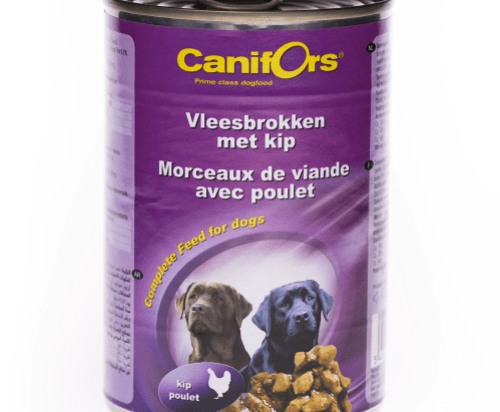 Canifors Dogs Food Meat Chunks with Chicken 410gx24