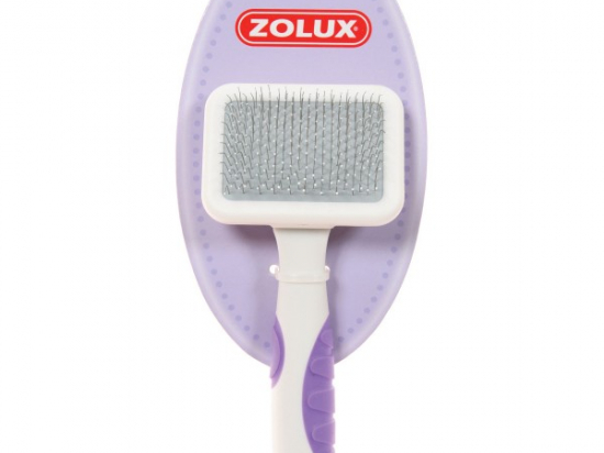 ZOLUX Plastic brush, round tipped teeth carbon steel ,exclusively for pets