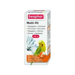 beaphar Multi Vit for Parrots and Large Parakeets - 20ml