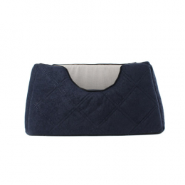 Square comfy bed 3 sizes - Navy Blue & Gray