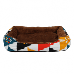 Colorful pattern bed brown