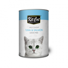 Kit Cat Wild Caught Tuna & Salmon 24x400g