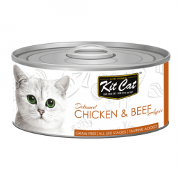 Kit Cat Deboned Chicken & Beef Can 24x80g