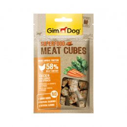 GimDog Superfood Meat Cubes chicken with carrot and spinach 40 g