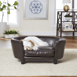 EHP Coco Pet Sofa Pocket on Back Leather Brown Small
