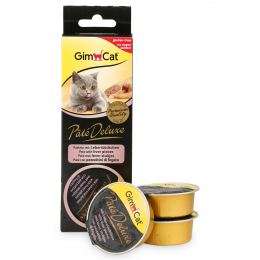 GimCat Pate Deluxe with liver pieces 3 x 21 g