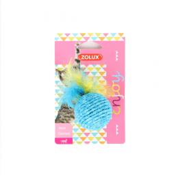 Zolux Enjoy Ball toy with feathers