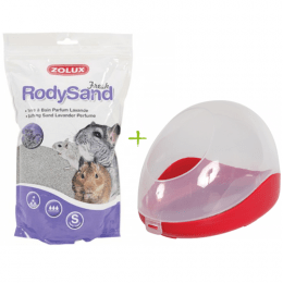 Chinchilla Sand Bath Set