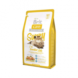 "Brit Care ""Sunny"" Hypoallergenic Salmon & Rice Formula for Adult Cats Coat Care"
