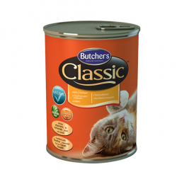 Butcher's Classic Chunks in Jelly Wet Food Cans for Cats 24x400g