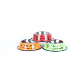 Stainless steel bowl for dogs vary drawings 300 ml