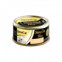 GimCat ShinyCat Filet chicken 24x70g