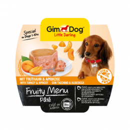 GimDog Fruity Menu Pate with turkey and apricot 8x100g