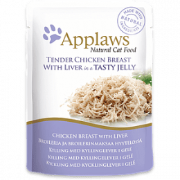 Applaws Chicken with Liver in Jelly Pouch 70g- x16