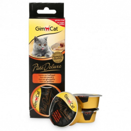 GimCat Pate Deluxe with poultry pieces 3 x 21 g