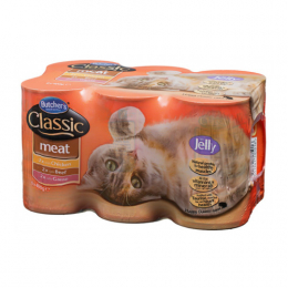 Butcher's Classic Meat Selection in Jelly Wet Food Cans for Cats 6x400g