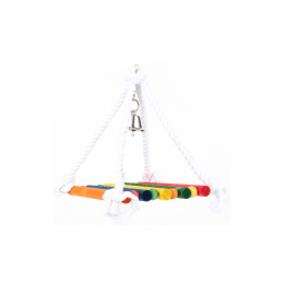 BirdLife Wood and Robe Swing for medium Birds