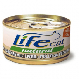 Life Cat Natural Wet Food Cans Chicken and Liver 24x70g