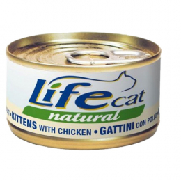 Life Cat Natural Wet Food Cans Kitten Chicken 24x70g