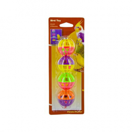 Penn-Plax Lattice Balls With Bells 4 Count