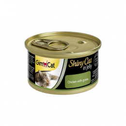 GimCat ShinyCat in Jelly Chicken with grass 24x70g