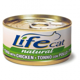 Life Cat Natural Wet Food Cans Tuna and Chicken 24x70g
