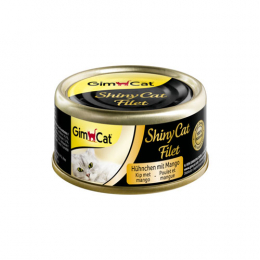 GimCat ShinyCat Filet chicken with mango 24x70g