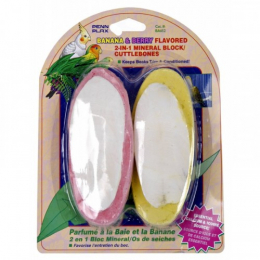 Penn Plax Banana & Berry Flavored 2 In 1 Cuttlebones Bird Treat