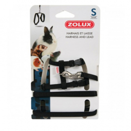 Zolux Small Animal Black Harness & Lead