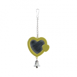 ZOLUX Plastic Heart Shaped Mirror with Bell